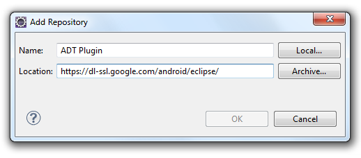 Eclipse Add Repository