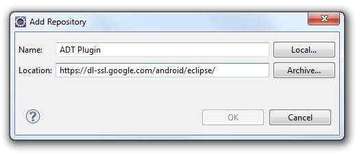 Eclipse Add Repository