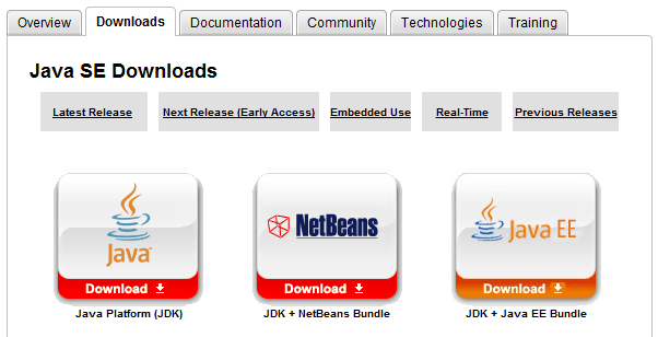 Java JDK Download Page