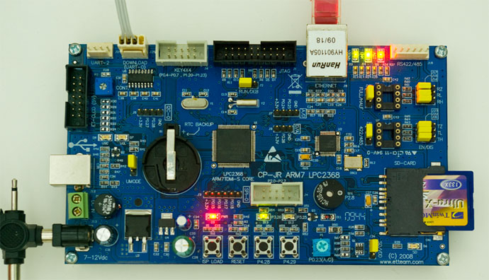 LPC2368 board