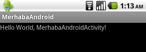 Android Hello World Activity
