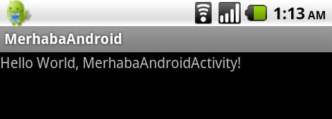 Android Hello World Activity